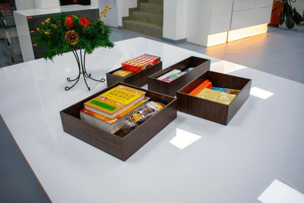 cajas de madera organisada